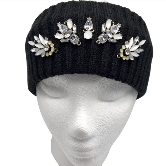 Juicy Couture Accessories - Juicy Couture Black Knit Stretch Headband Bling 1f2157517d1